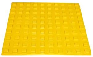Плитка тактильная для помещений (ПВХ, 500х500х7мм, квадратные рифы)