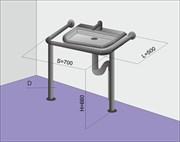 Поручень на стойках для раковины