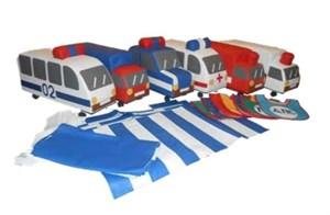 Набор машинок (ДПС, МЧС, скорая, пожарная, полиция, грузовик)