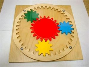 """Развивающая деревянная панель """"Планетарный механизм"""""""