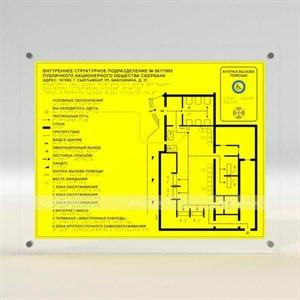 Тактильная мнемосхема с интегрированной системой вызова помощи и прямым креплением 550x690 (комплект)