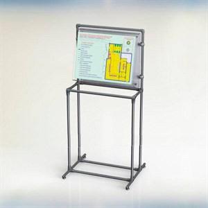 Тактильная мнемосхема с интегрированной системой вызова помощи и стойкой с наклонным креплением (комплект)