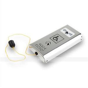 Антивандальная кнопка вызова персонала со звуковым сигналом и шнурком AISI 304