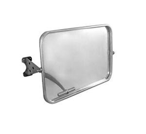 Зеркало из полированной стали антивандальное 600х600мм с ручкой