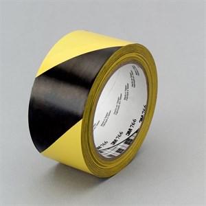 Лента сигнальная черно-желтая для маркировки 50 мм