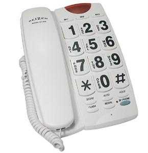 Телефон с крупными кнопками и регулируемым уровнем громкости