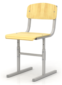 Стул для учащихся с ОВЗ, регулируемый без ручек