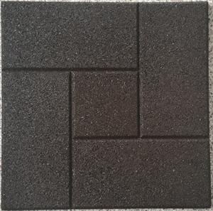 Противоскользящая плитка из резиновой крошки с рифленой поверхностью, 30х30см