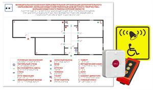 Тактильная мнемосхема стандартная с системой вызова помощи