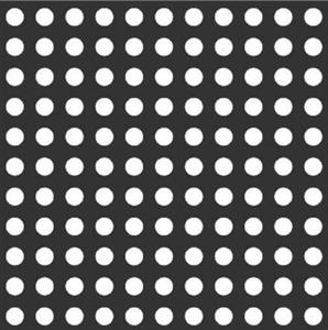 Трафарет для тактильных индикаторов D35мм без штифта