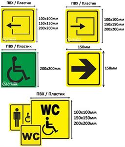 Готовый набор пиктограмм для адаптации учреждения