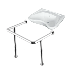 Комплект: раковина для инвалидов DS Y1 635х556х250мм с опорным поручнем