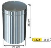 Урна для санузла с поворотной крышкой (16л)
