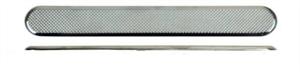 Тактильный индикатор полоса шириной 25 мм из нержавеющей стали для приклеивания