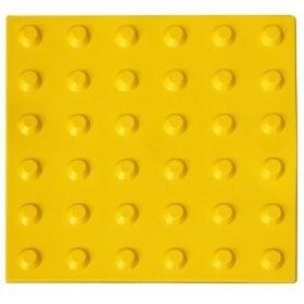 Плитка тактильная для помещений (ПВХ, 500х500х5 мм, конусообразные (л) рифы)