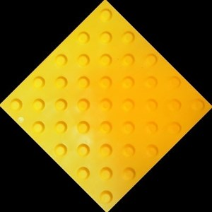 Плитка тактильная тротуарная (полиуретановая, 300х300х6 мм, конусообразные (ш) рифы)