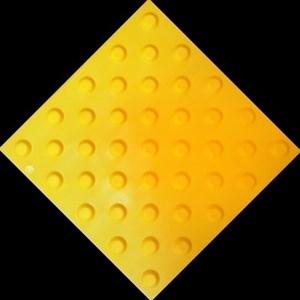 Плитка тактильная тротуарная (полиуретановая, 500х500х6 мм, конусообразные (ш) рифы)