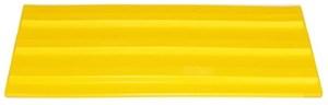 Плитка тактильная для помещений (ПВХ, 500х150х5 мм,  три продольные полосы)