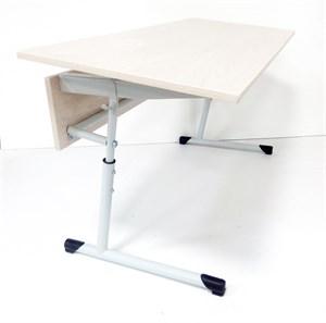 Стол ученический двухместный  регулируемый по углу наклона и высоте от 580 мм (3-5гр.)