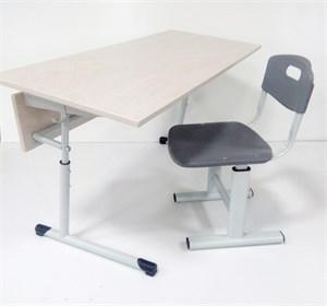 Комплект: регулируемый стол и два регулируемых стула 5-7гр. роста (для роста 160-200см)