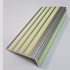 Алюминиевый угол с 5 фотолюминесцентными вставками, 100 см