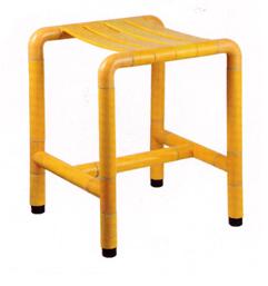 Сиденье для душа желтое 32х34х45 см