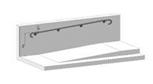 Поручень пристенный  одинарный, 50,8 мм
