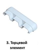 Торцевой элемент с компенсатором для отбойной доски арт. 2919