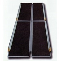 Пандус рампа складная книжкой 4-секционная MR 707Т с черным покрытием, 244 см