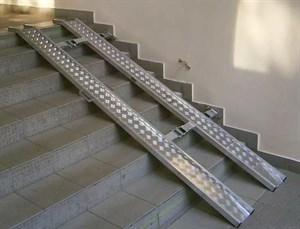 Пандус алюминиевый откидной, складной, длиной до 3м