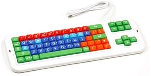 Клавиатура проводная с крупными кнопками и накладкой Clevy