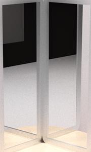 Комплект из двух акриловых зеркал для воздушно-пузырьковой трубки ИА26695
