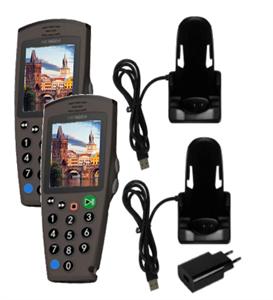 Комплект: 2 аудиогида С7 + зарядное устройство на 1 трубку + 1 слот для загрузки контента
