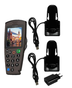 Комплект: 1 аудиогид С7 + зарядное устройство на 1 трубку + 1 слот для загрузки контента