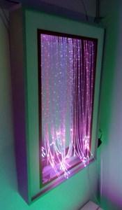 Зеркальное панно с фибероптическими нитями «Разноцветный дождь»