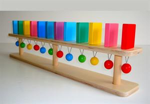 """Тактильно-развивающая панель """"Разноцветное домино"""" настольная"""