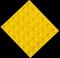 Плитка тактильная тротуарная (полиуретановая, 500х500х6 мм, конусообразные (л) рифы) - фото 8309
